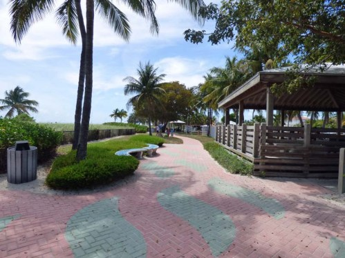 a Sidewalk Past Large Pavilion