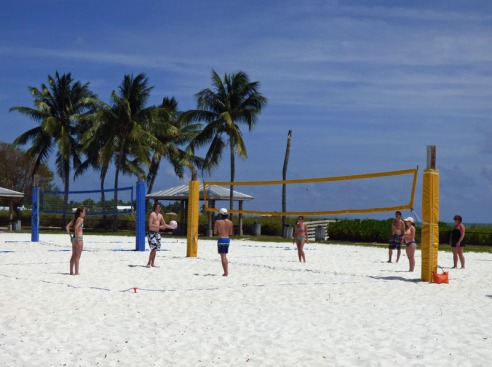 a Volley Ball Court