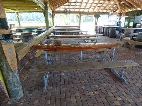 b Surf Board Picnic Tables