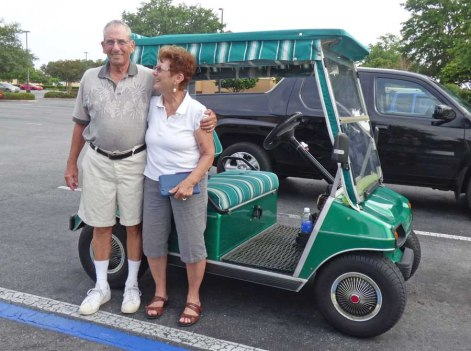 Bill and Pam with Golf Cart