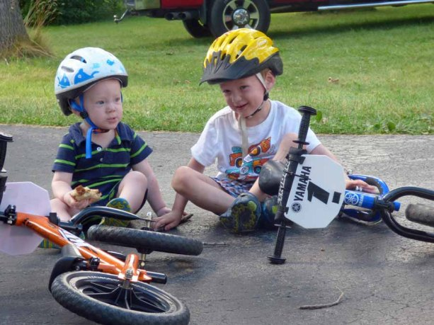 a Cam and Owen with Bikes