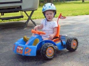 a Cam Driving Race Car