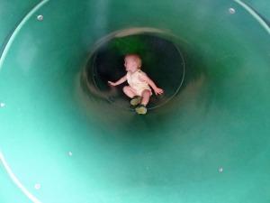 a Cam in Sliding Board Tube