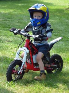 a Owen on Motorcycle