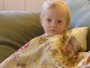 a Owen Sad on Sofa