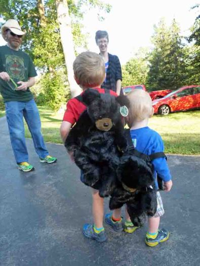 b Owen and Cam w Bear Backpacks