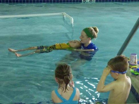 b Owen in Swim Class