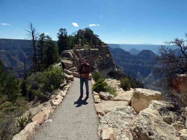b Chrisopher on Trail to Bright Angel Overlook