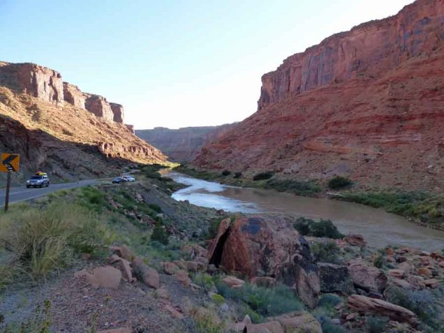 b Colorado River Looking Downstream