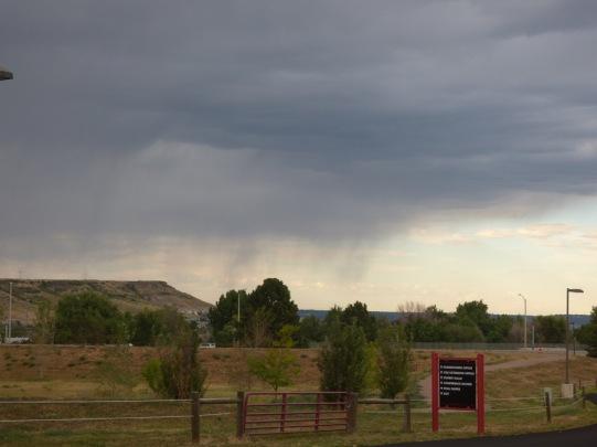 b Rain Dropping Over Bluff