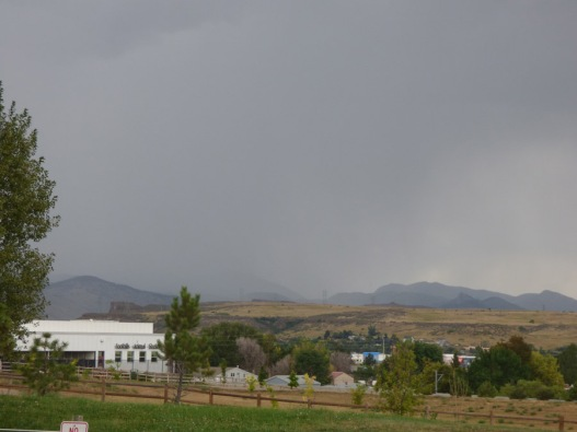b Rain Over the Mountains