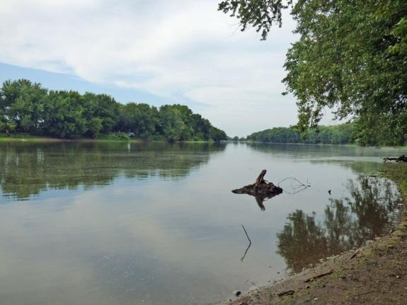 b Rock River Upstream