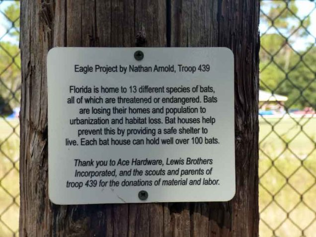a Bat House Sign