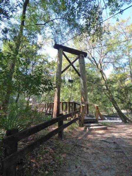 b Approaching Suspension Bridge