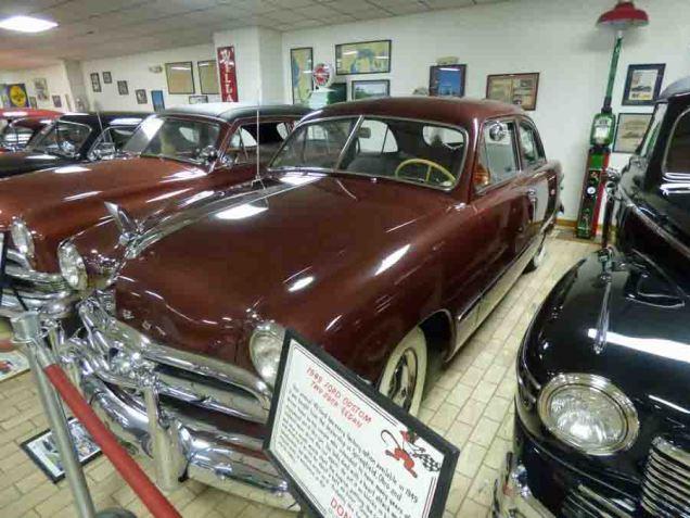 b 1949 Ford Custom Two Door Sedan
