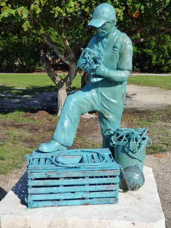 b Lobsterman Statue