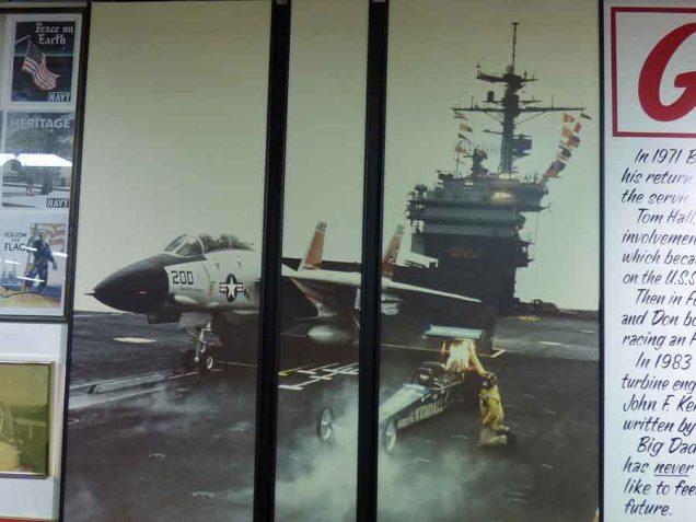 b Racing Jet on Aircraft Carrier