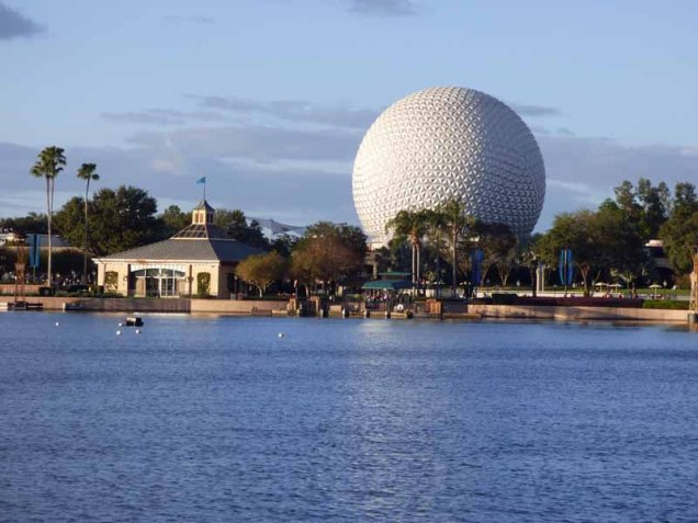 b Spaceship Earth Across Lake