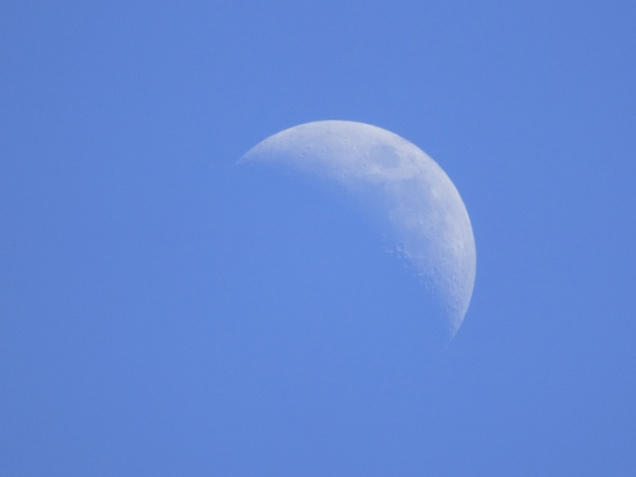 b The Moon at Three in the Afternoon