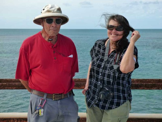 b Andy and Kathy on Seven Mile Bridge