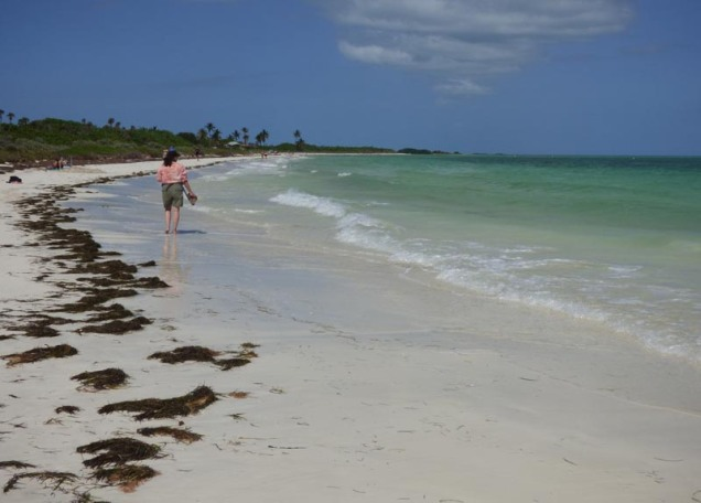 b Kathy Walking on Bahia Honda Beach