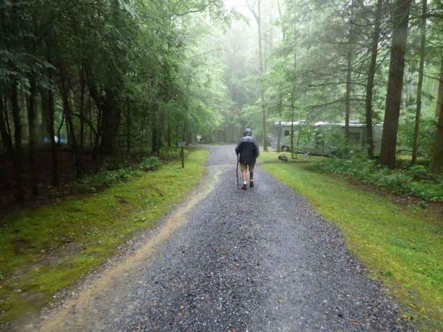 b Andy Walking to RV in Rain