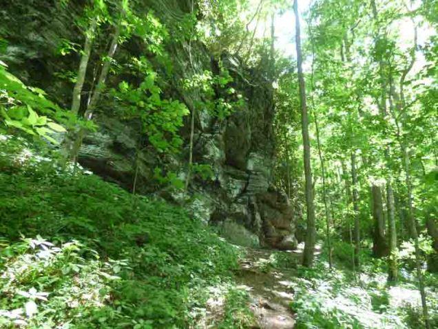 b Approaching Rock Wall on Baxter Creek Trail