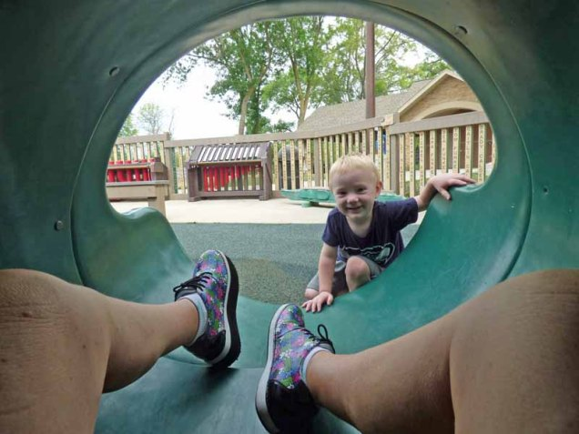 b Cam and Baba's Legs on Slide
