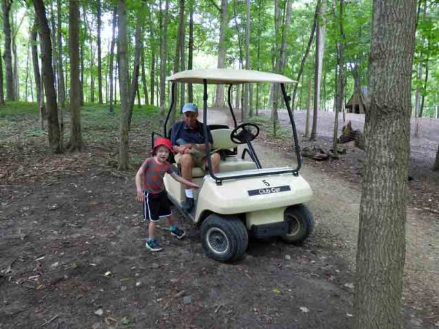 b10 Owen and Andy at Golf Cart