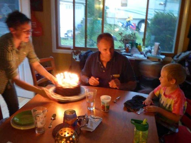 b2 Birthday Cake Aflame