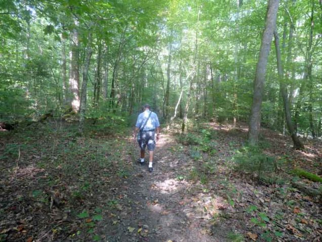 andy-walking-along-big-creek
