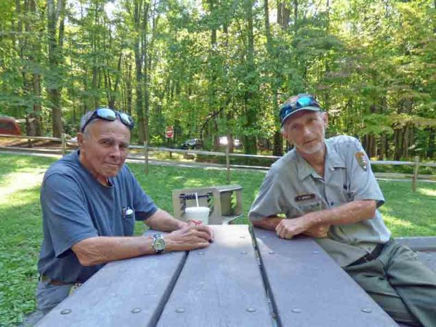 b09 Andy and Robert Spence in Cosby Campground