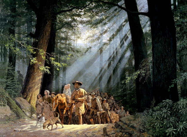 daniel-boone-leading-pioneers-through-cumberland-gap